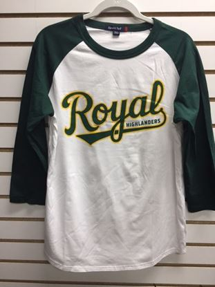 Picture of White Green Sleeve Baseball